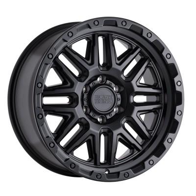 Black Rhino Alamo Matte Black With Black Bolts Wheel (18