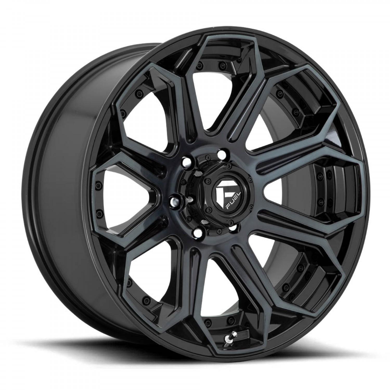 Fuel Siege Gloss Machined Double Dark Tint Wheel vzn101503