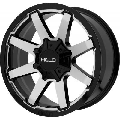 Helo HE909 Gloss Black Machined Wheel (17