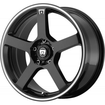 Motegi MR116 FS5 Gloss Black Machined Flange Wheel (15
