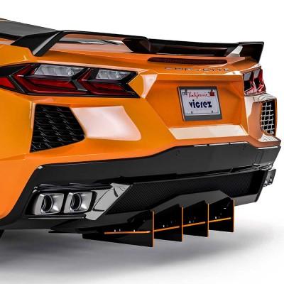 Vicrez 180R Rear Diffuser vz102213 | Chevrolet Corvette C8 2020-2021