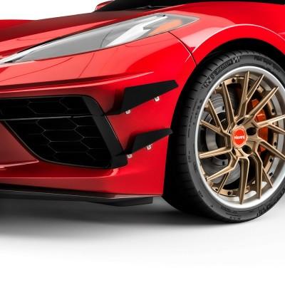Vicrez 4VR + 3VR Front Bumper Canards vz102246 | Chevrolet Corvette C8 2020-2021