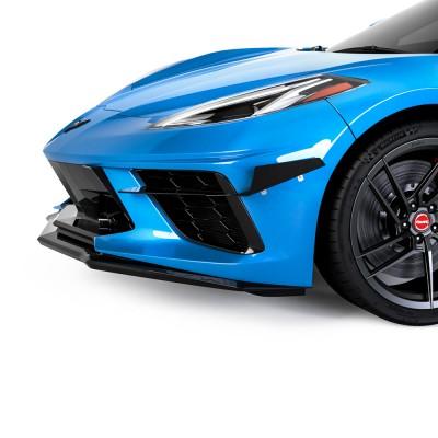 Vicrez 4VR Front Bumper Canards vz102233 | Chevrolet Corvette C8 2020-2021