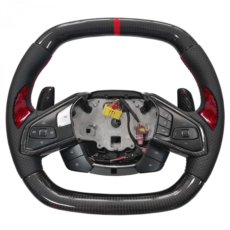 Vicrez Carbon Fiber OEM Steering Wheel vz102116 | Chevrolet Corvette C8 2020-2021
