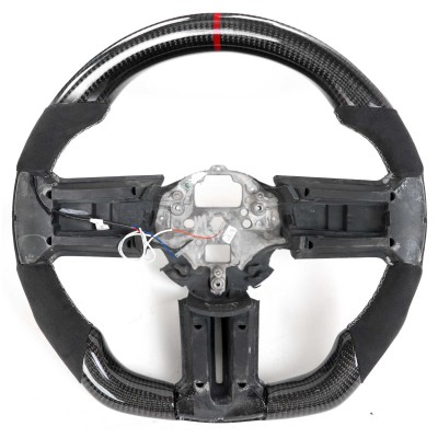 Vicrez Carbon Fiber OEM Steering Wheel vz102124 | Ford Mustang 2010-2014
