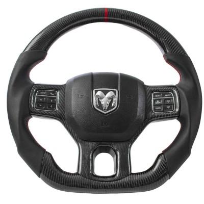 Vicrez Carbon Fiber OEM Steering Wheel vz102338 | Dodge Ram 1500 2013-2018