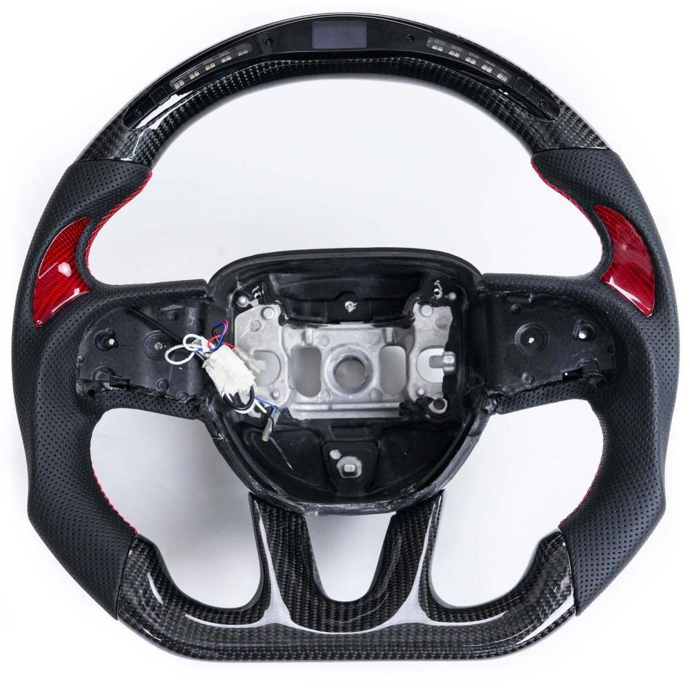 Vicrez Carbon Fiber Steering Wheel +LED Dash Display vz101781   Dodge Challenger 2015-2020