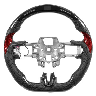 Vicrez Carbon Fiber Steering Wheel +LED Dash Display vz101787 | Ford Mustang 2015-2020