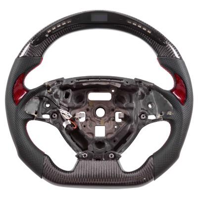 Vicrez Carbon Fiber Steering Wheel +LED Dash vz101927 | Chevrolet Camaro 2016-2021