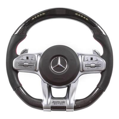 Vicrez Carbon Fiber Steering Wheel+LED Dash vz102311 | 2018-2021 Mercedes-Benz AMG