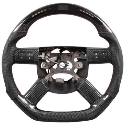 Vicrez Carbon Fiber Steering Wheel +LED vz102341 | Dodge Challenger 2005-2010