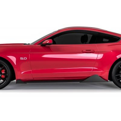 Vicrez Centa Pro Style Rocker Panel Winglets Set vz101835 | Ford Mustang 2015-2020