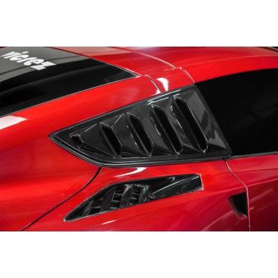 Vicrez LV Style Quarter Window Louvers vz100956 | Chevrolet Corvette C7 2014-2019