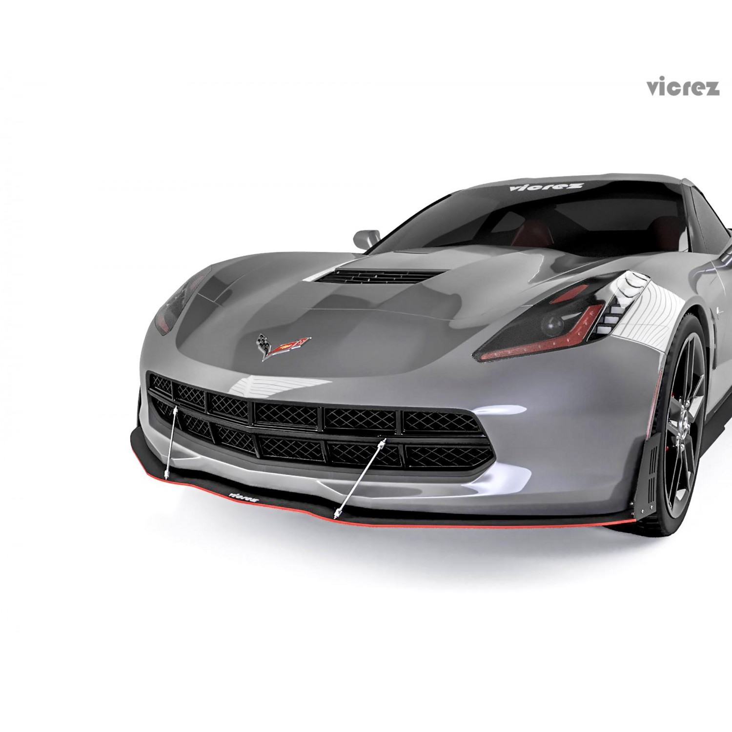 Chevy Corvette 2015 2018 High Mount: Vicrez Chevrolet Corvette C7 2014-2018 VZ Style Front