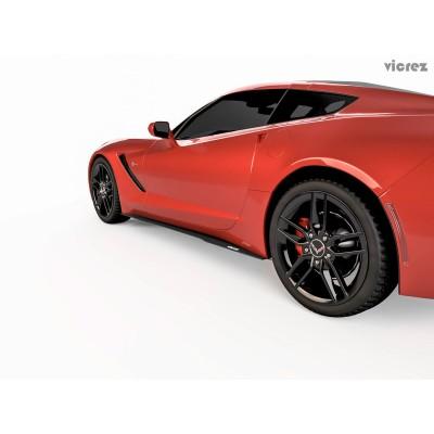 Vicrez Chevrolet Corvette C7 2014-2018 VZ Style Side Skirt Splitters vz100653