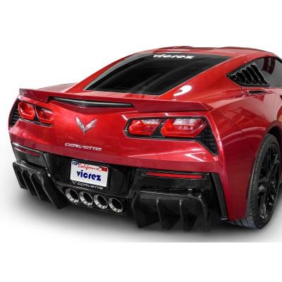 Vicrez VZ3 Style Rear Diffuser vz100689 | Chevrolet Corvette C7 2014-2019