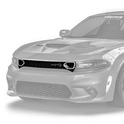 Vicrez Front Grille w/ LED Lights SRT Hellcat Style vz102123 | Dodge Charger 2015-2020
