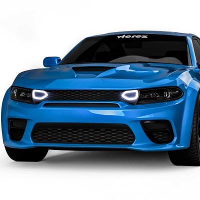 Vicrez Front Grille w/ LED Snorkel Lights vz102229 | Dodge Charger Widebody 2020-2021