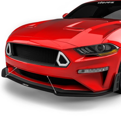 Vicrez Front Top Grille W/ LED Lights vz102132 | Ford Mustang 2018-2020