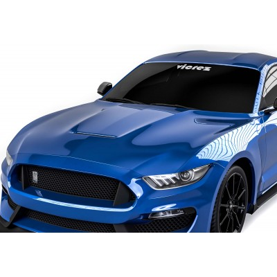 Vicrez GT350 Style Hood W/ Air Vent Scoop vz101852 | Ford Mustang 2015-2017