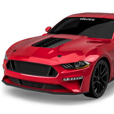Vicrez Hood W/ Air Vent Scoop GT500 Style vz102169 | Ford Mustang 2018-2020