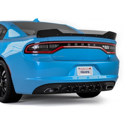 Vicrez LV Style Rear Diffuser Add-on vz101078 | Dodge Charger 2015-2020