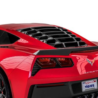 Vicrez LV Style Rear Window Louvers vz102121 |Chevrolet Corvette C7 2014-2019