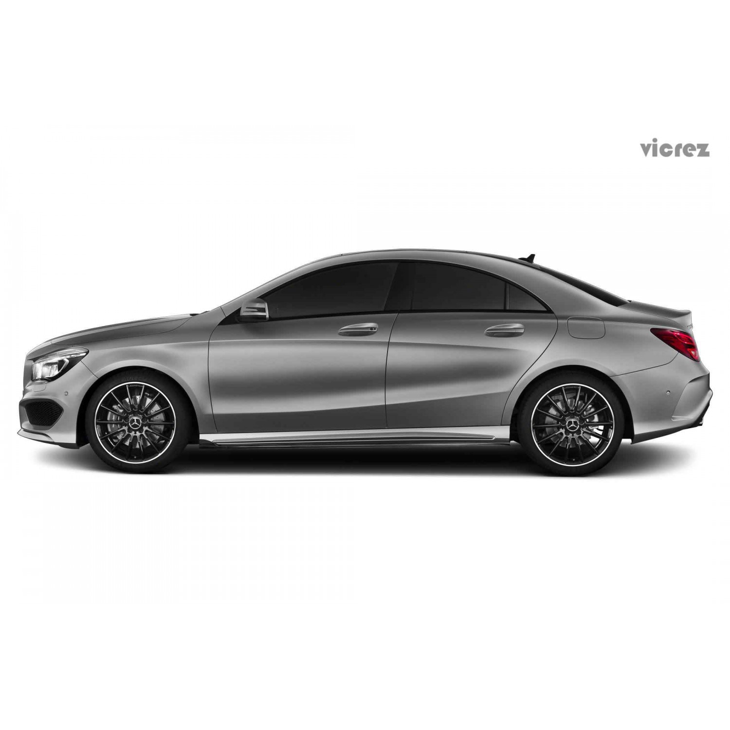 vicrez mercedes benz cla class sport 2014 2016 carbon fiber side skirts vz100539. Black Bedroom Furniture Sets. Home Design Ideas