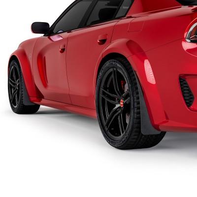Vicrez Mud Flaps Front & Rear Set vz102102 | Dodge Charger Widebody 2020-2021