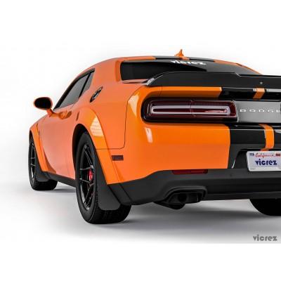 Vicrez Mud Flaps Front & Rear vz101504 | Dodge Challenger 2008-2019 Widebody
