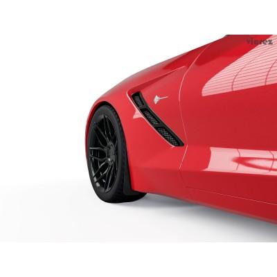 Vicrez Mud Flaps Front Wheel Rock Guard Pair VR1 vz101406 | Corvette C7 2014-2019