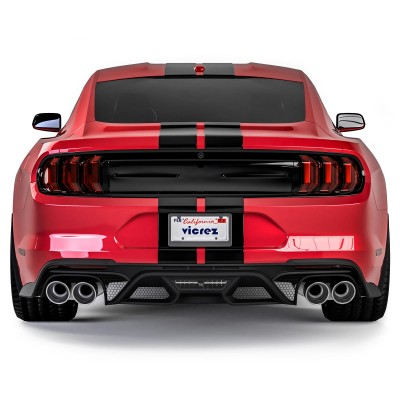 Vicrez Rear Diffuser GT500 Style vz102131 | Ford Mustang 2018-2021