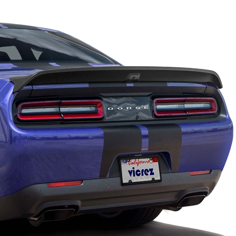 Vicrez Rear Spoiler Redeye Hellcat Style W/ Camera Hole vz102182   Dodge Challenger 2008-2020
