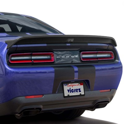 Vicrez Rear Spoiler Redeye Hellcat Style W/ Camera Hole vz102182 | Dodge Challenger 2008-2020