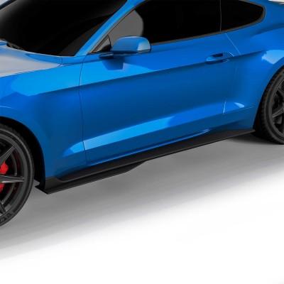 Vicrez Side Skirts Rocker Panels GT500 Style vz102175  | Ford Mustang 2015-2020