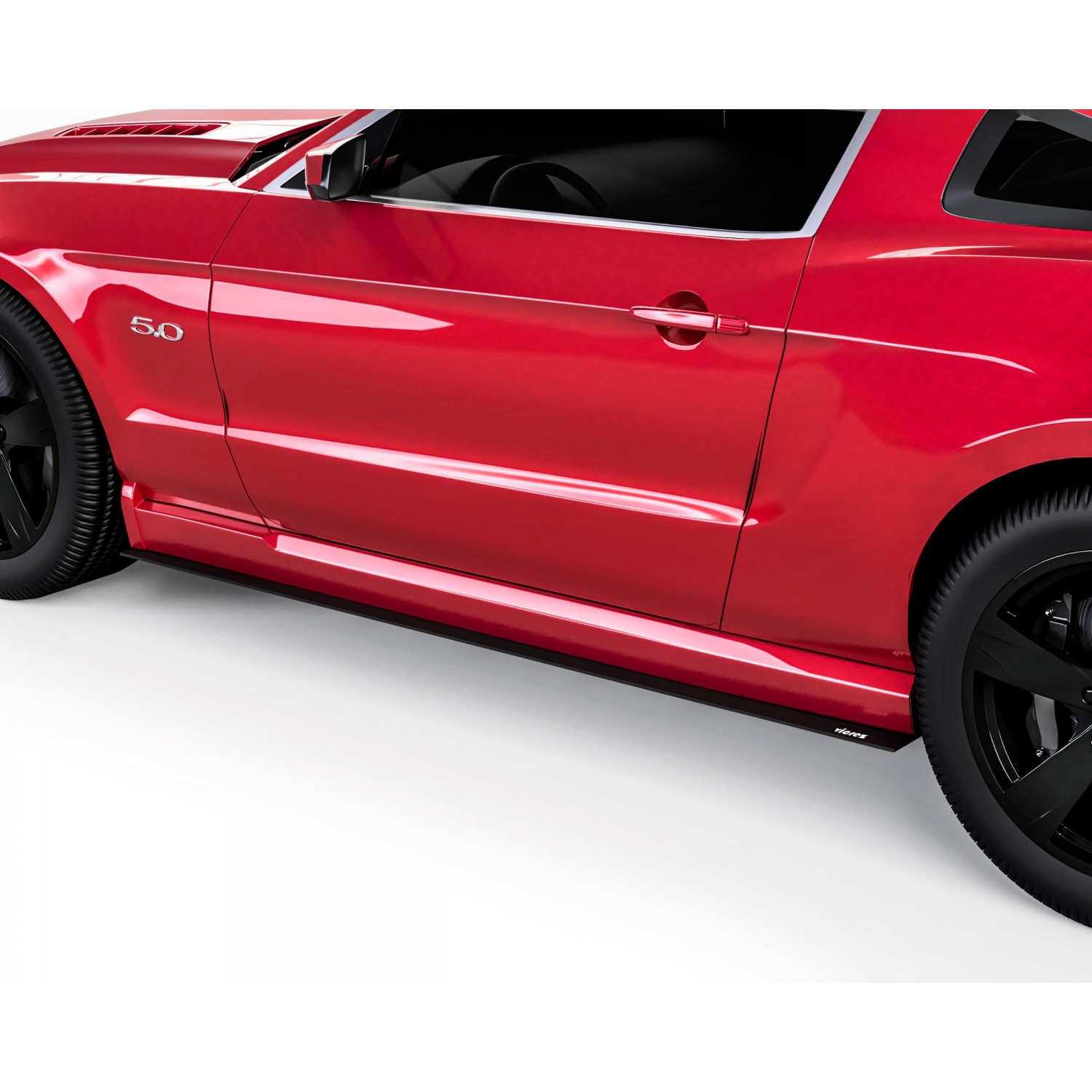 Vicrez V1R Side Skirt Splitters vz101603 | Ford Mustang 2005-2014