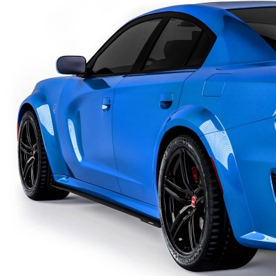 Vicrez V3R Side Skirt Splitters vz102097 | Dodge Charger Widebody 2020-2021