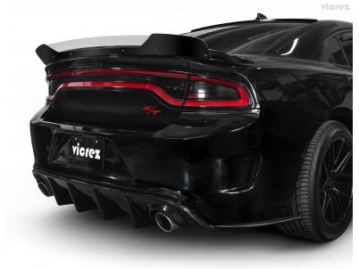 Vicrez V3R Style Full Rear Diffuser vz101707 | Dodge Charger 2015-2020