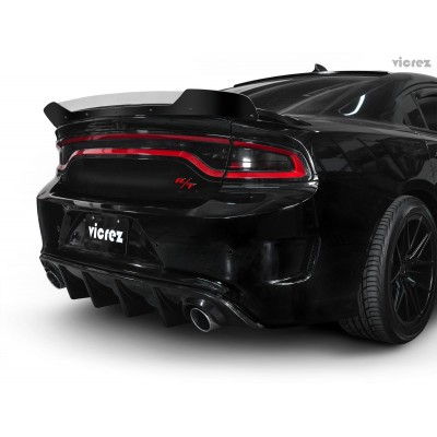 Vicrez V3R Style Rear Diffuser vz101705   Dodge Charger R/T, SRT 392, Hellcat 2015-2021
