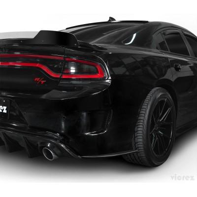 Vicrez V3R Style Rear Side Bumper Splitters vz101706 | Dodge Charger 2015-2020