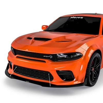 Vicrez VR3 Front Bumper Lip Splitter vz102099 | Dodge Charger Widebody 2020-2021