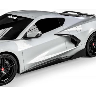 Vicrez VZR1 Side Skirt Splitters vz101672 | Chevrolet Corvette C8 2020-2021