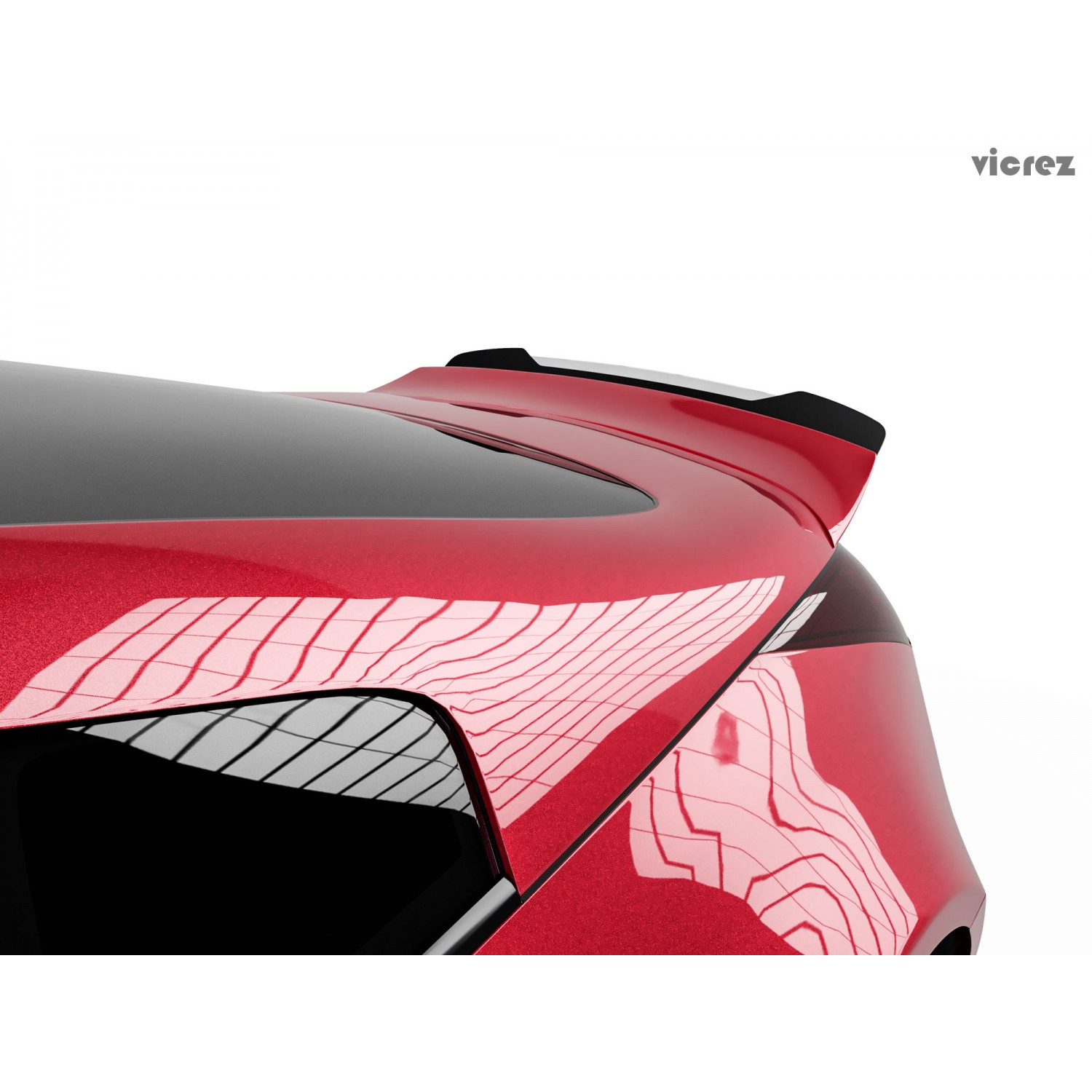 Vicrez Wicker Bill Add-on V3R vz101401 for Ducktail Wing Spoiler | Nissan 350z 2003-2008