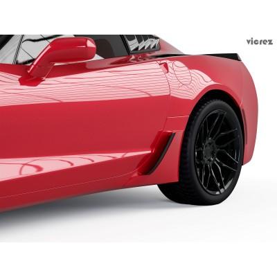 Vicrez Z06 Rear Rocker Lower Brake Scoop Vents vz101404 | Corvette C7 Stingray 2014-2019