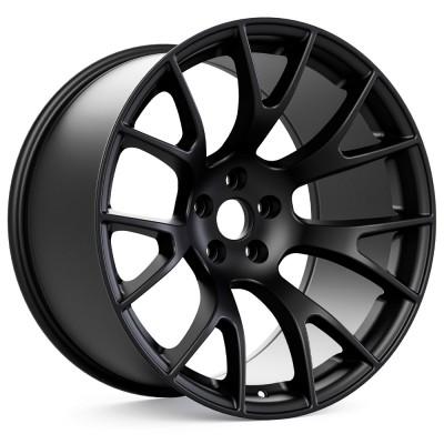 "Hellcat Style Widebody Matte Black Wheel (20""x11"", -2.5 Offset, 5x115 Bolt Pattern, 71.6 mm Hub) vzn100792"