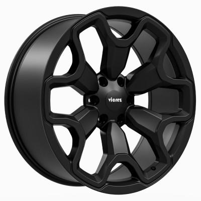 """TRX Style Matte Black Wheel (22"""" x 9"""", +18 Offset, 6x139.7 Bolt Pattern, 78.1 mm Hub) vzn118493"""