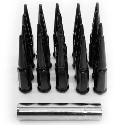 Vicrez Gloss Black Spike Lug Nut Kit 14mm x 1.5 (Set of 20) vzn117975