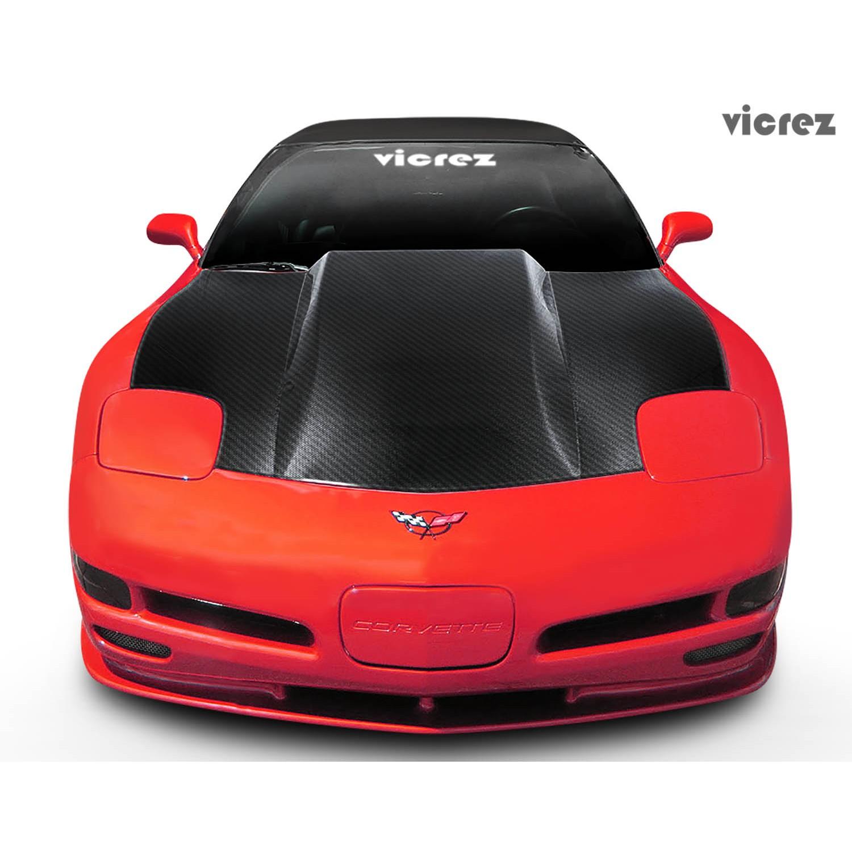 1997-2004 Chevrolet Corvette C5 Carbon Fiber Cowl Induction Hood vzn100370