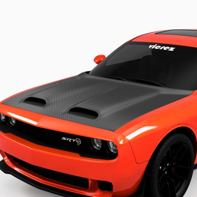 Vicrez Hood Wrap Vinyl vz102262 | Dodge Challenger 2008-2021