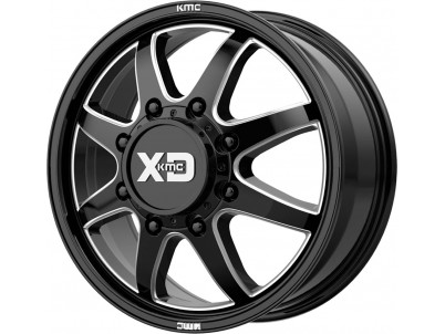 XD Xd845 Pike Dually Gloss Black Milled Front Wheel vzn102236